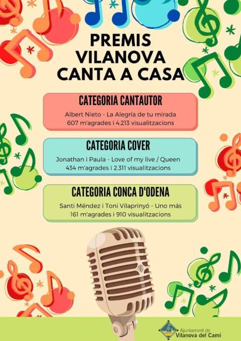 Guanyadors Vilanova Canta a casa cartell-1