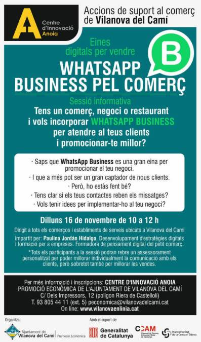 WHATSAPP BUSINESS PEL COMERC