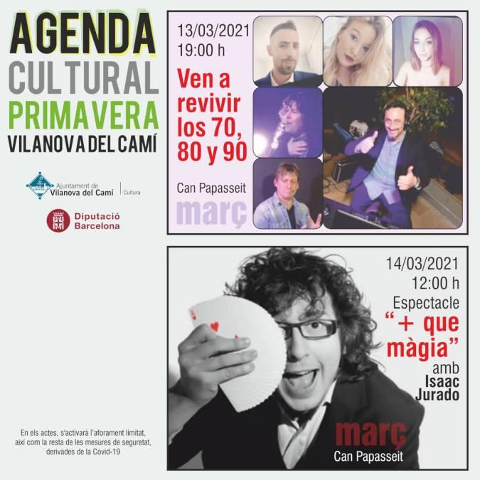 Agenda cultural primavera Mar - 01 redes