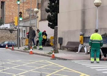 Jardineria tala arbres carrer Igualada 2