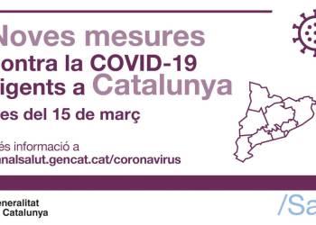 Noves mesures Covid 15m21 Salut