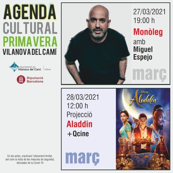 agenda cultural 27 i 28 de mar