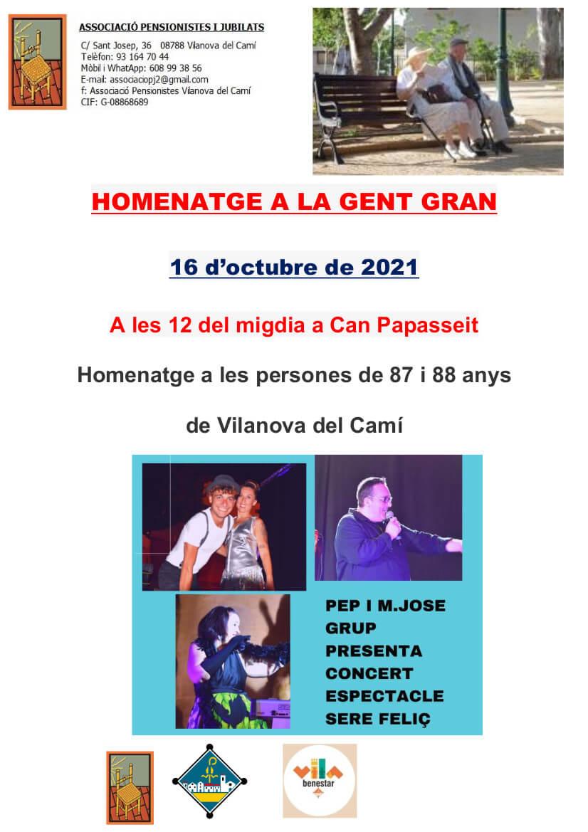 Poster Homenatge Gent Gran