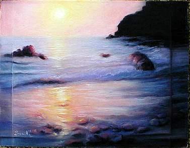 seascape pastel art