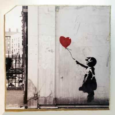 Banksy chip of the block series mural art