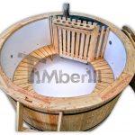Vildmarksbad i plast + Luftboble massage + 2 LED TimberIN