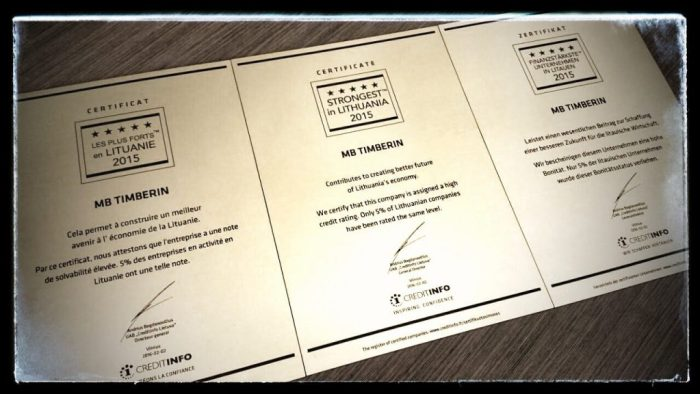 TimberIN Certificates