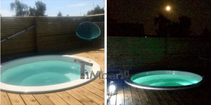 Vildmarksbad I Glasfiber Terrasse Til Indbygning Classic, Hundested, Danmark