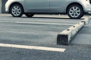 Parking Lot Hazards - Wheelstop - Viles & Beckman - Fort Myers Florida