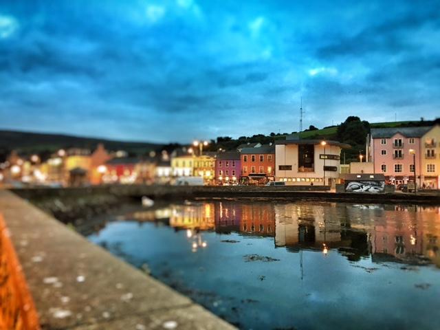 Bantry town at night