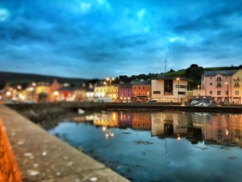 Bantry town at night