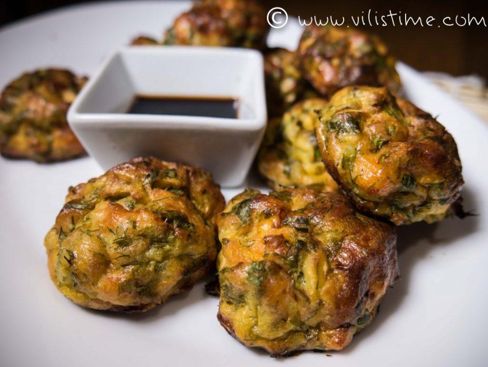 Кюфтенца от сьомга и картофи на фурна
