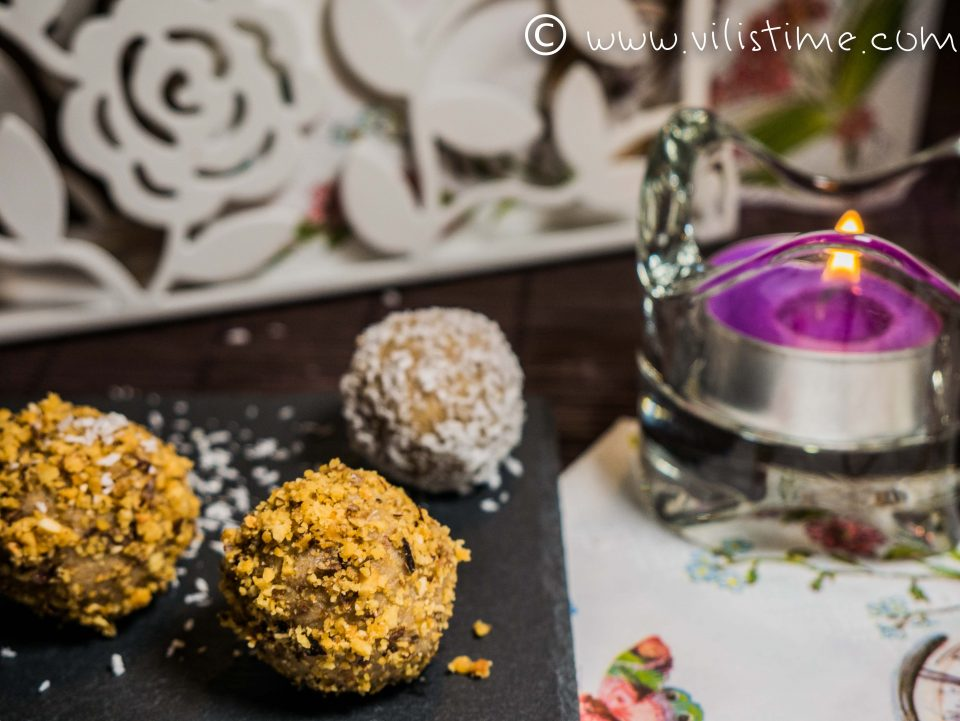Сурови веган бонбони с мака, кашу и кокос
