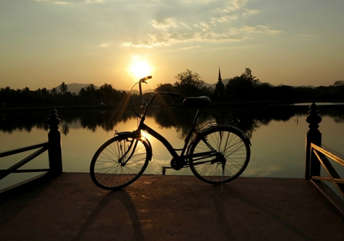 Fahrradfahren am Wolfgangsee
