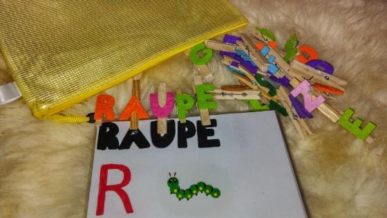 Busy Bags mit Buchstaben