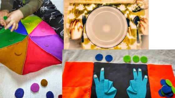 Banner Farbkreis - Nähen ohne Nähmaschine - Montessori Material DIY