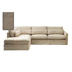 Corner Sofa Bed Chaise Longue Folding Set Furniture Brompton Cross Left Washed