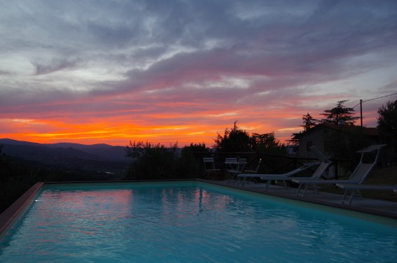 Sunset at villa in Umbria