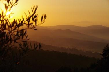 Sunset at Villa Bastiola