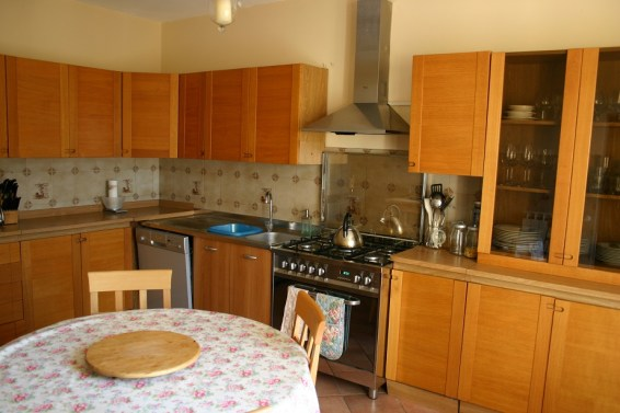 Kitchen in apartment in Umbria