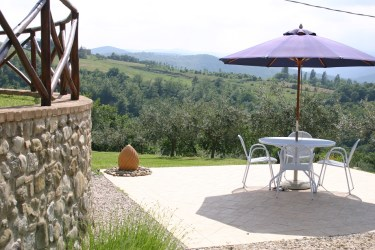 Sun terrace at Villa Bastiola