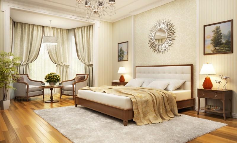 modna sypialnia w klasycznym stylu