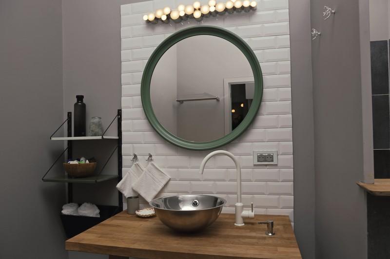 łazienka wstylu loft