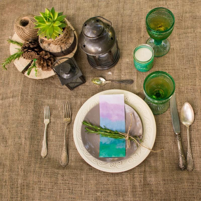 dekoracja stołu wstylu retro