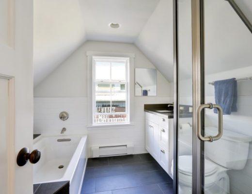 funkcjonalna łazienka na poddaszu