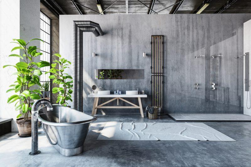 łazienka wstylu industrialnym