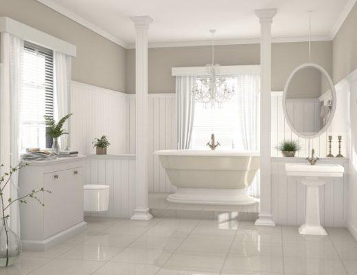 mała łazienka w stylu angielskim