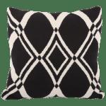 poduszka dekoracyjna dosypialni czarno biała