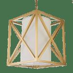 ekskluzywna złota lampa wisząca