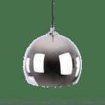 srebrna lampa wisząca