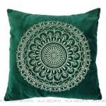 welurowa zielona poduszka