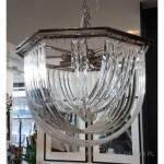 luksusowy szklany żyrandol dosalonu