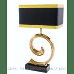 czarno-złota lampa art deco