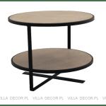 czarny okrągły stolik