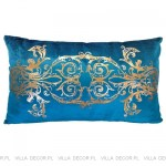 modna luksusowa poduszka turkusowa