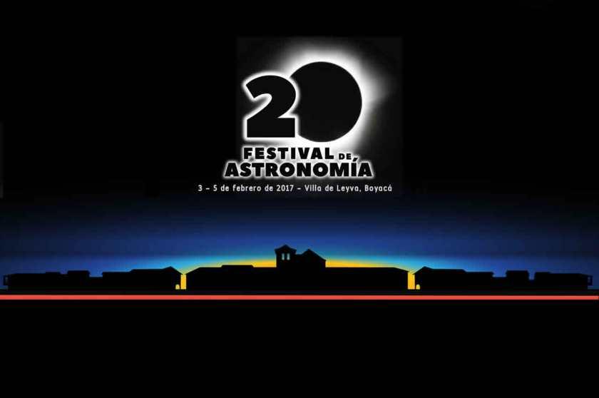 Afiche de 20 Festival de Astronomía de Villa de Leyva 2017