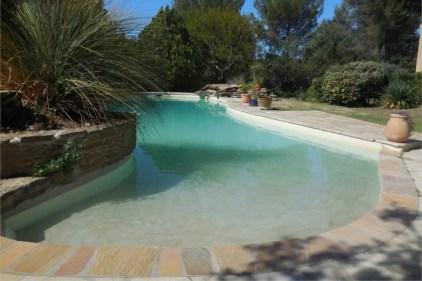 Villa Dourmidou Pool Graduated Walk-in Entry