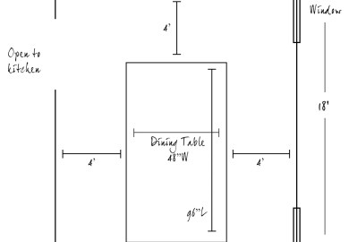 Dining Room Table Dimensions For 8