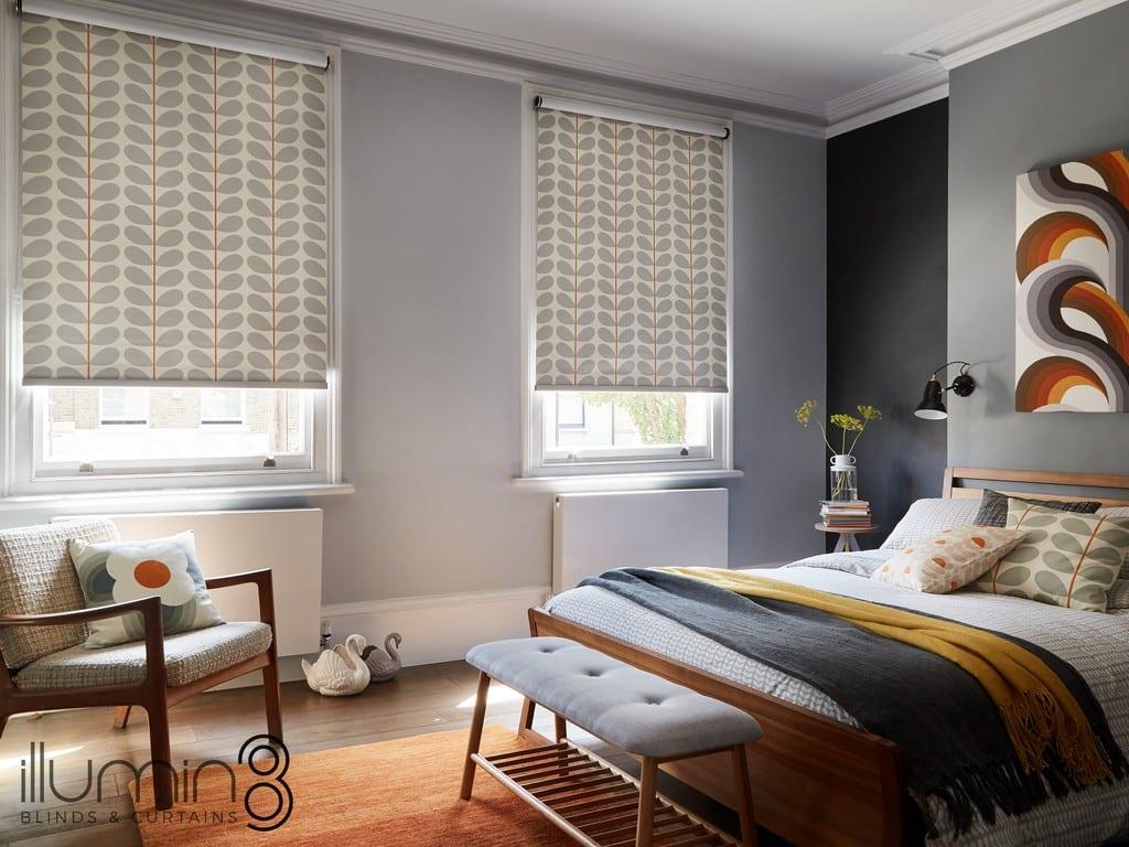 Orla Kiely Blinds bedroom blinds at Village Blinds Ballymena