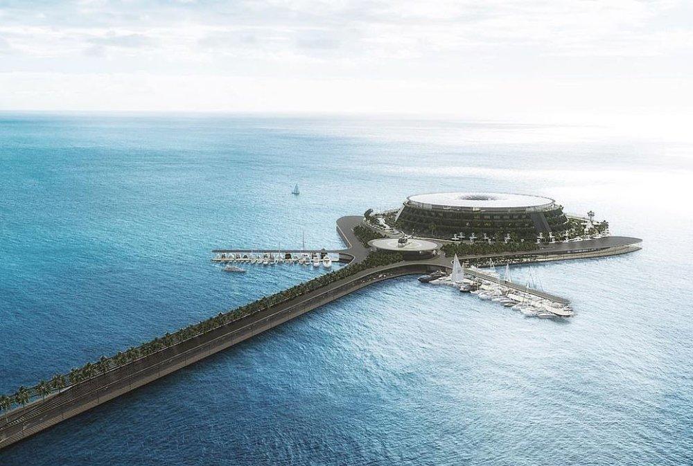 用再生能源、低污染⋯⋯卡塔爾的水上旋轉酒店能建成嗎?