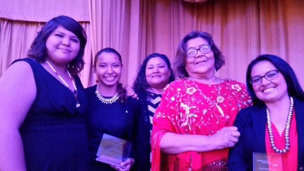 Awards at National Indian Health Board Conference, September, 2015, Washington, DC in various categories for their work in making the Young Women's Gathering a success.