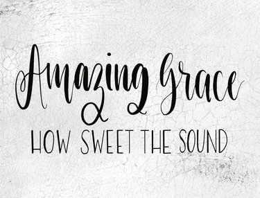 Farmhouse Blocks > Spiritual & Angels > Amazing grace how