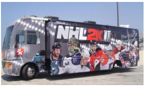 The REAL Hockey Experience on Wii Tour Bus