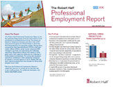Professional Employment Report