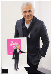 Mattel honours Canadian designer Joe Mimran. Photo Courtesy of Mattel