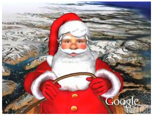 santa on google earth